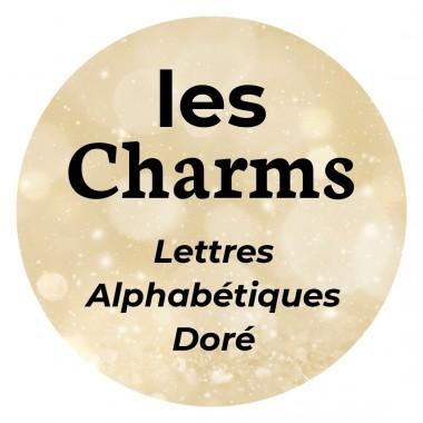 Charms Acier Inox Lettres Doré