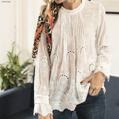 Blouse Blanche Broderies...