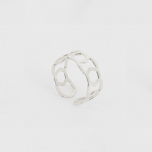Bague Triangle - 8mm - Rhodium
