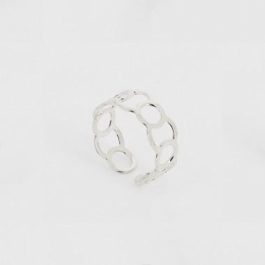 Bague Cercle - 8mm - Rhodium
