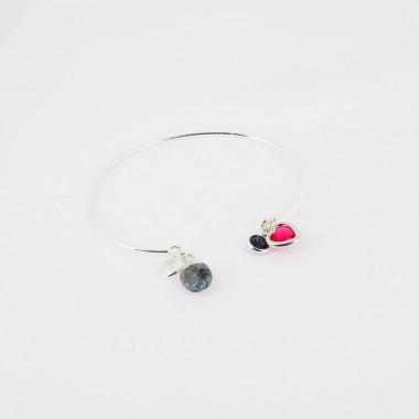 Bracelet ajustable - Onyx -...