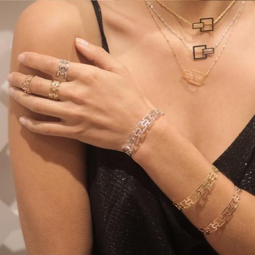 Bracelet Carré - 10 mm -...