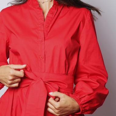 Robe Cintrée Patineuse Rouge