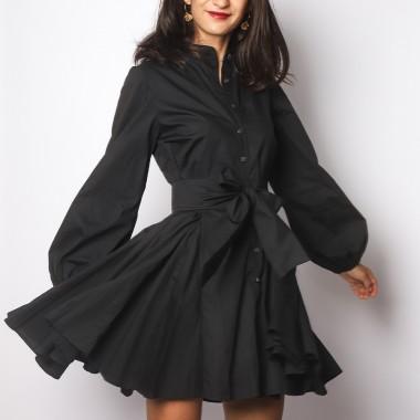 Robe Cintrée Patineuse Noire
