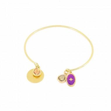 Bracelet Talisman Violet Doré