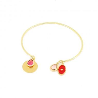 Bracelet Talisman Rouge Doré
