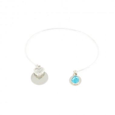 Bracelet Emotion Bleu Argenté