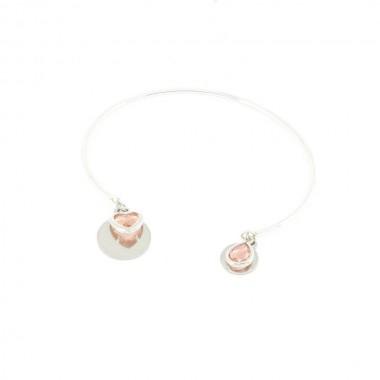 Bracelet Emotion Rose Argenté