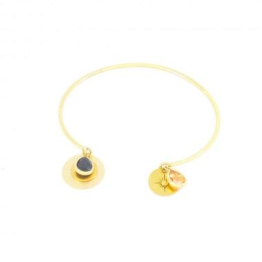 Bracelet Gaïa Noir Doré