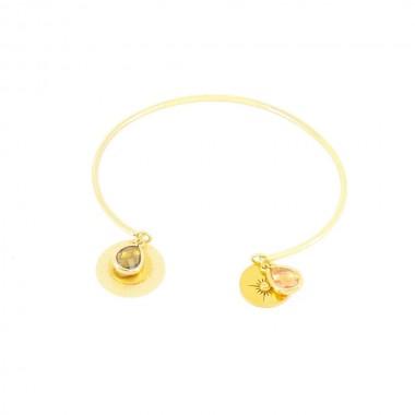 Bracelet Gaïa Brun Doré