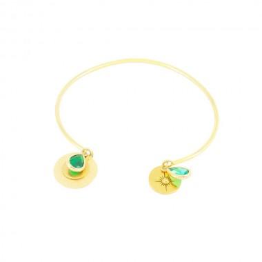Bracelet Gaïa Bleu Vert Doré